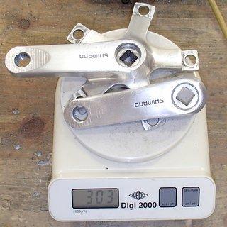 Gewicht Shimano Kurbel XT FC-M730 (tuned) 90mm, 4-kant