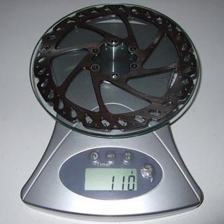 Gewicht Hayes Bremsscheibe V6 Rotor 160mm