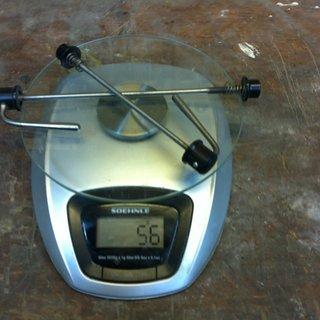 Gewicht Tune Schnellspanner AC 16+17 100mm, 135mm