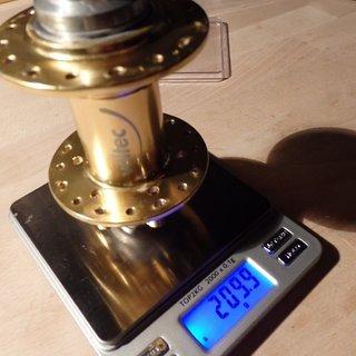 Gewicht Veltec Nabe DH Disc 110mm/20, 32-Loch