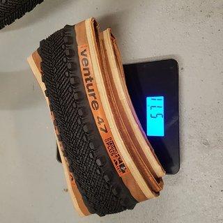 Gewicht WTB Reifen Venture TCS (tanwall) 650b x 47mm