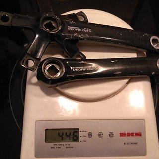 Gewicht Shimano Kurbel Deore LX FC-M560 (tuned) 145mm, 68/73mm, 4-kant