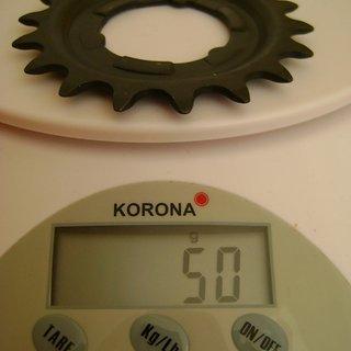 Gewicht Shimano Nabenschaltungen Ritzel (Alfine/Nexus) 18Z