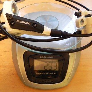 Gewicht Shimano Scheibenbremse LX BL/BR-M445 HR, 1320mm