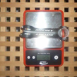 Gewicht Ritchey Vorbau WCS 4-Axis 31.8mm, 120mm, 6°