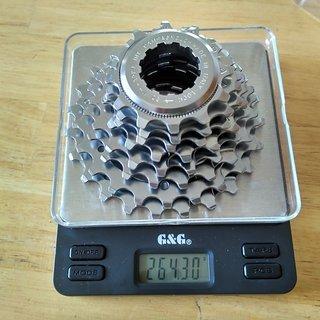 Gewicht Campagnolo Kassette Record 8-fach, 12-23Z, Exa Drive