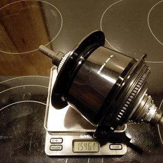 Gewicht Shimano Nabenschaltungen Alfine SG-S7001-8 135mm/Vollachse, 32-Loch, 8-fach, Centerlock
