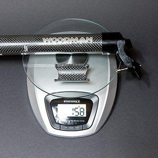 Gewicht Woodman Sattelstütze Carbo DX 31,6 x 350mm