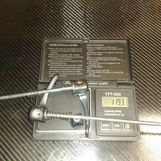 Gewicht Shimano Schnellspanner XTR 960er-Serie 100mm, 135mm