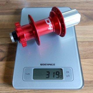 Gewicht Hope Nabe Pro 4 Hinterrad 12mm / 150mm
