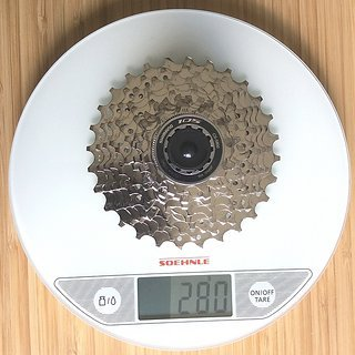 Gewicht Shimano Kassette 105 CS-5800 11-fach, 11-28Z