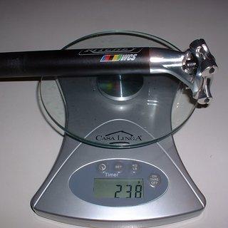 Gewicht Ritchey Sattelstütze WCS Alloy 2-Bolt 27,2 x 350