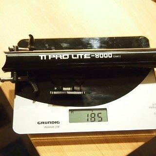 Gewicht KCNC Sattelstütze TI Pro Lite Scandium 31.6 x 400mm