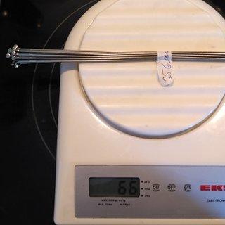 Gewicht DT Swiss Speiche Revolution 256mm, 16 Stück