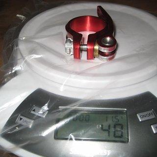 Gewicht Hope Sattelklemme Sattelklemme (QR) 34,9mm