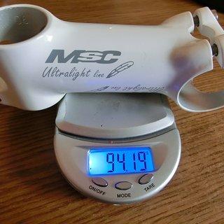 Gewicht MSC Vorbau Ultralight Line Ti 31.8mm, 100mm, 6°