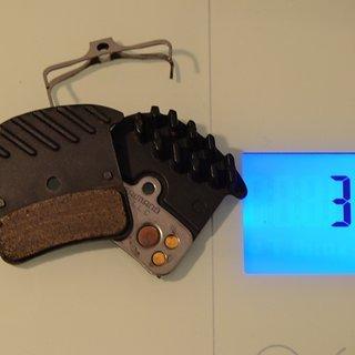 Gewicht Shimano Bremsbelag H03C Metall mit Kühlrippen