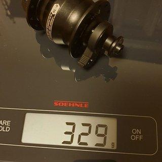 Gewicht Shutter Precision Nabe SL-9 (Centerlock) 100mm QR