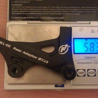 Gewicht Formula Scheibenbremsadapter FD-A061-00 IS >>> PM +80