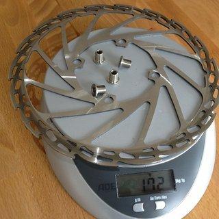 Gewicht Hope Bremsscheibe Fixed Disc 203mm