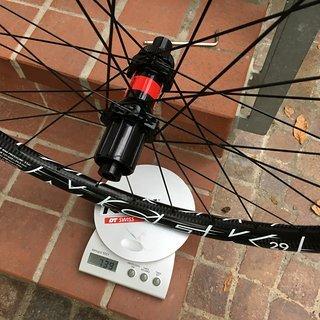 """Gewicht Mcfk Systemlaufräder MTB 29"""" / DT Swiss 240s SP CL 28L / Sapim CX-Ray 29"""", HR: 142/12, Shimano"""