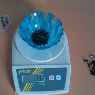 Gewicht Sapim Speichennippel Polyax Messing 36x, 2mm, 12mm