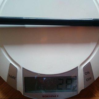 Gewicht Extralite Achse Black Lock 12.2 142 x 12 mm