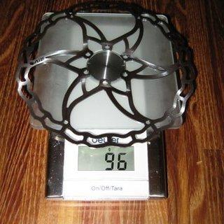 Gewicht Ashima Bremsscheibe AI2 180 mm