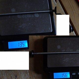 Gewicht Controltech Spannachse Race Light MTB 100mm, 135mm