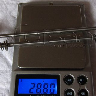 Gewicht J&L Spannachse Ti-Spannachsen SL 100mm, 135mm