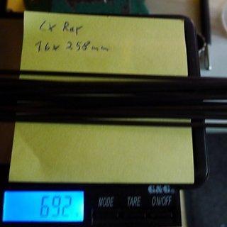 Gewicht Sapim Speiche CX-Ray 258mm, 16 Stück