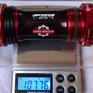 Gewicht FSA Innenlager BB-9200 Ceramic (MTB) HTII, 68/73mm, BSA