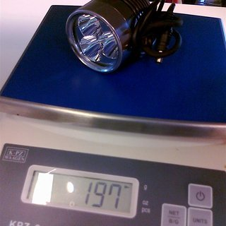 Gewicht Fluxient Beleuchtung 3x XM-L T6