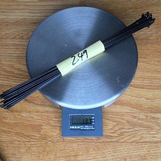 Gewicht Sapim Speiche Laser 249mm, 32 St.