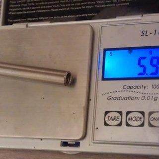 Gewicht Tuning Pedals Weiteres/Unsortiertes Dämpferachse (Ti) M8x50mm