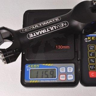Gewicht New Ultimate Vorbau BOR-NU Ti Stem 31.8mm, 130mm, 6°