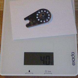 Gewicht Rohloff Nabenschaltungen Achsplatte für Scheibenbremse