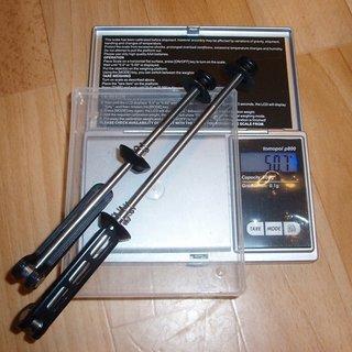 Gewicht Heylight Schnellspanner Schnellspanner 100mm, 135mm