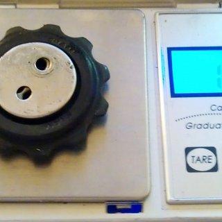 Gewicht SRAM Schaltröllchen X9 oben 11 Zähne