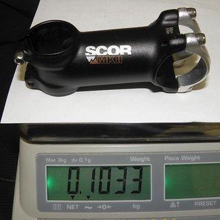 Gewicht Scor Vorbau MKII 31.8mm, 80mm, 7°