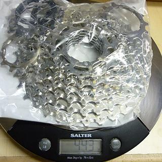 Gewicht Shimano Kassette Deore CS-HG50 9-fach, 11-34Z