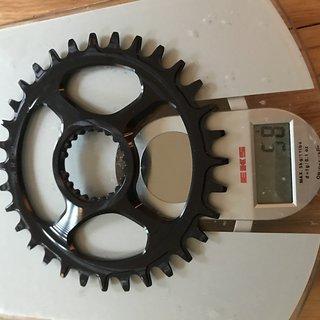 Gewicht Garbaruk Kettenblatt Direct Mount Shimano XTR M9100, rund, 32 Zähne 32
