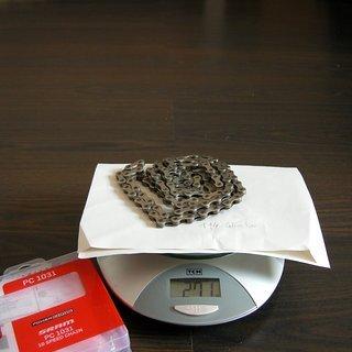 Gewicht SRAM Kette PC-1031 114 Glieder, 10-fach