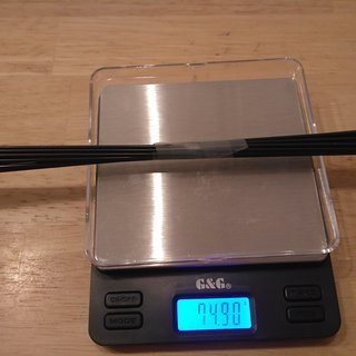 Gewicht Sapim Speiche D-Light 288mm, 14 Stk.