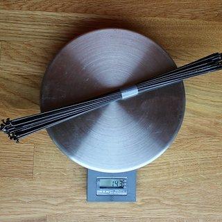 Gewicht Sapim Speiche Laser 258mm, 32 Stück