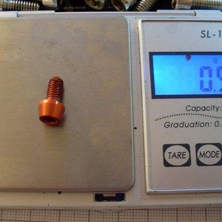 Gewicht Tuning Pedals Schrauben, Muttern konische Inbusschraube M5x10, Al