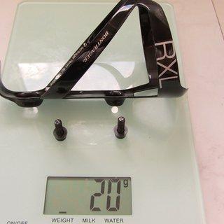 Gewicht Bontrager Flaschenhalter RXL Carbon Bottle Cage
