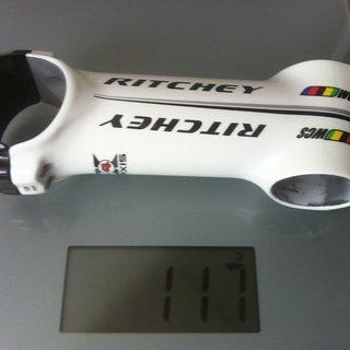 Gewicht Ritchey Vorbau WCS 4-Axis 31.8mm, 100mm, 6°