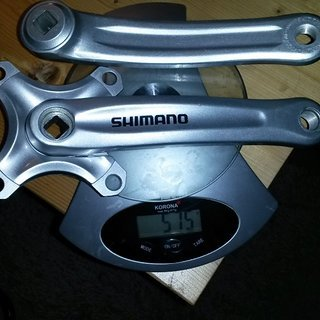 Gewicht Shimano Kurbel FC-MC20 170mm, 4-kant