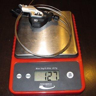 Gewicht Shimano Schalthebel XT SL-M780-B-I 10-fach